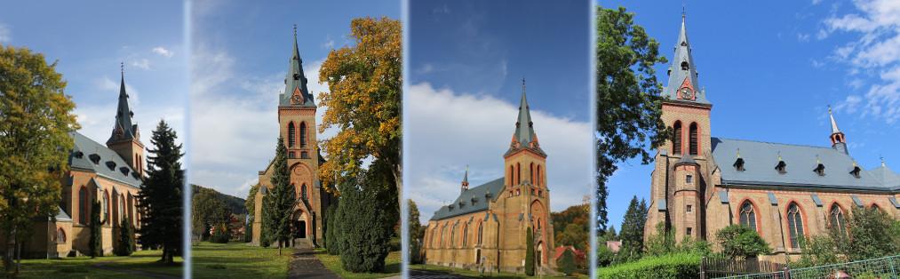 Denní pohled na kostel Nanebevzetí Panny Marie